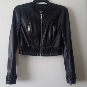 Faux Leather Bebe Jacket